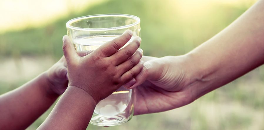 Glass of Water for a Child